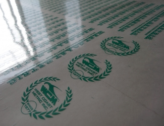 Sheet of logo printing