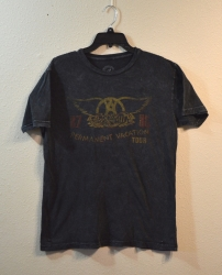 T-Shirt-Black-Aero Smith-Permanent Vacation Tour 87/88
