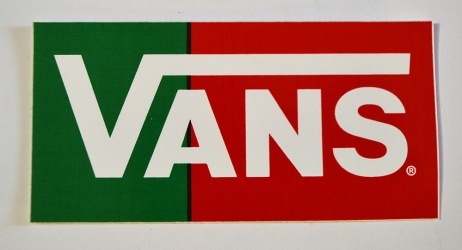Vans-Sticker-Red & Green
